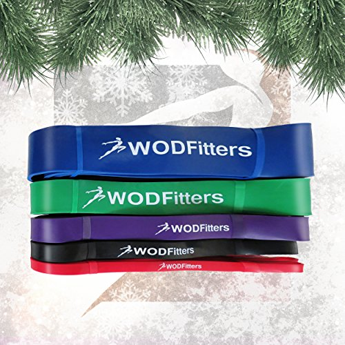 WODFitters Stretch Resistance Pull Up Assist Band with eGuide, 5 Blue - 65 to 175 Pounds (2.5'' 4.5mm) by WODFitters (Image #7)