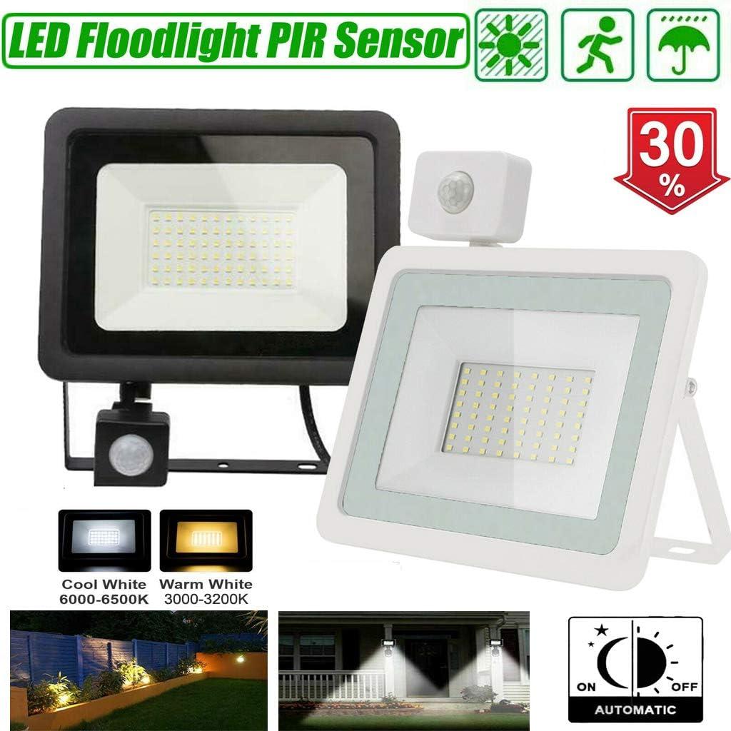 Security Light PIR Sensor Outdoor Light 10W LED Flood Light 1000LM Waterproof Warm White Outside Light for Garden Yard Garage
