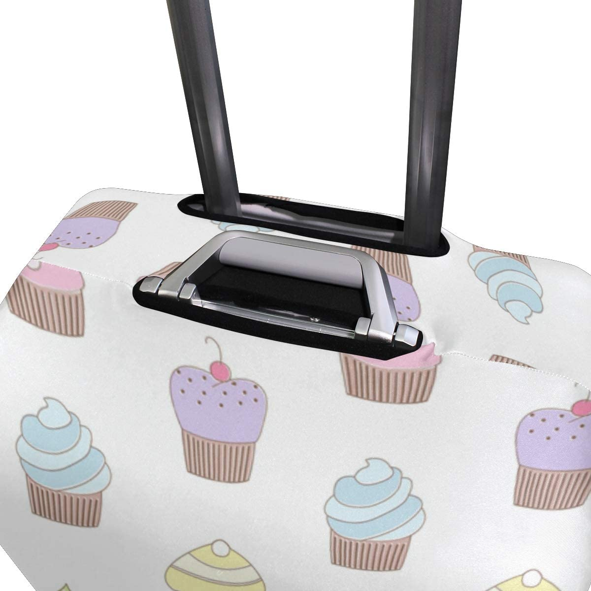 Nanmma Cute 3D Ice Cream Pattern Luggage Protector Travel Luggage Cover Trolley Case Protective Cover Fits 18-32 Inch