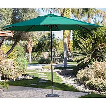 Backyard 11ft Patio Umbrella Shade Cover Market Sun Heat Wave Cool Garden  Furniture Home