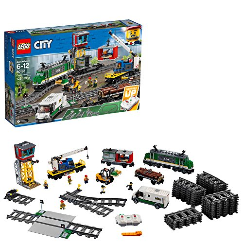Electronic Motor Action Kit - LEGO City Cargo Train 60198 Remote Control Train Building Set with Tracks for Kids, Top Present for Boys and Girls (1226 Pieces)