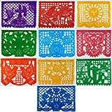 OPP PLASTIC Mexican Papel Picado Banner (15 Feet Long) Designs as Pictured