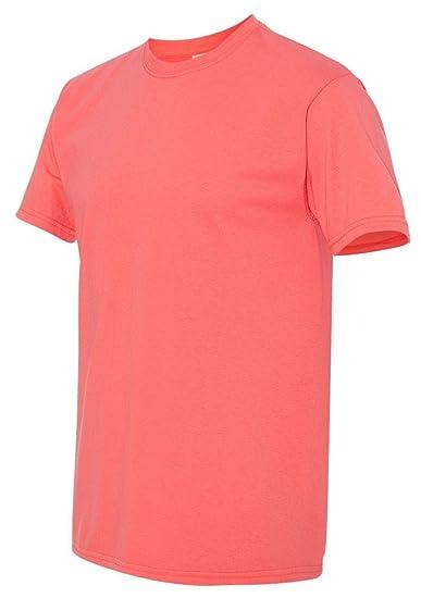 Amazon Com Heavyweight Cotton T Shirt Color Coral Silk Size