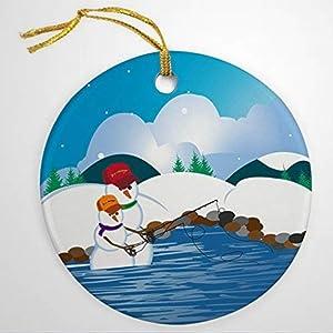 BYRON HOYLE Fly Fishing Ornament Casting Snowman Dad Ornament Christmas Ornaments Pandemic Xmas Decor Holiday Present