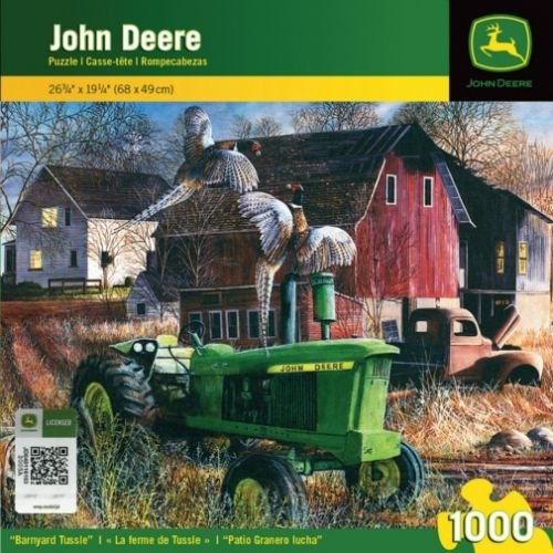 All States Ag 1000 Piece Puzzle - Barnyard Tussle John Deere