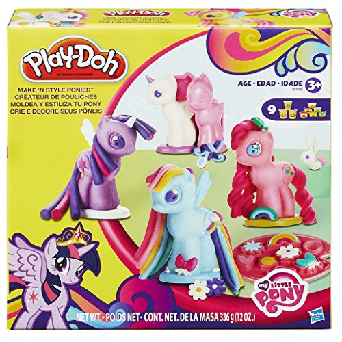 Play-Doh B0009 My Little Pony Make 'N Style Ponies, Brown