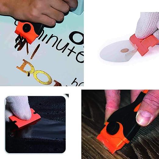 Gebildet® Rascador de Vidrio y vitrocerámica - Especial para Vitro-Cerámicas y Placas de Inducción-10 Piezas Acero Inoxidable Cuchillas + 10 Piezas ...