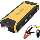 MOCRUX Auto Starthilfe, Tragbare Autobatterie Anlasser mit 400A Spitzenstrom 12000mAh Externer Akku Ladegerät für Tablet, Smartphone, Laptop, LED Display und Taschenlampe(Licht, Blinklicht und SOS)