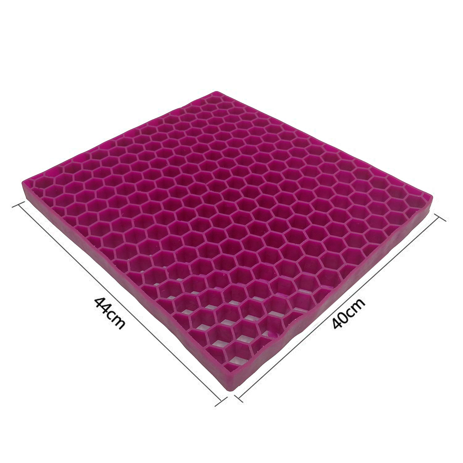 One Size GENERAL ARMOR Gel Chair Seat Cushion Orthopedic Design Seat Pad Purple Comfort Cooling Breathable