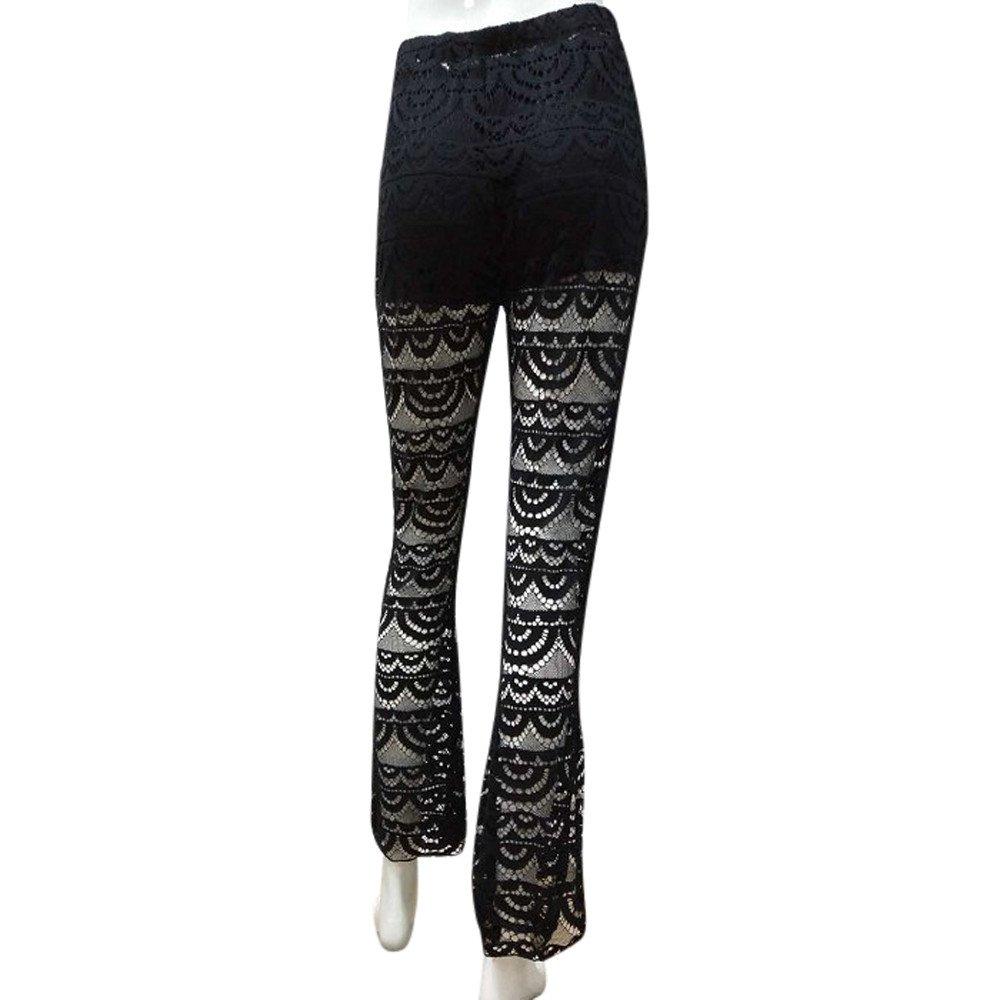 Yoga Pantalones Mujer Deportivas Trousers Boho Festival Hippy Leggins Polainas para Mujer El/áSticos Pilates Fitness Estilo Estampado Llamarada de fondo de campana de encaj Pantalones