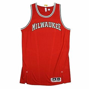 Milwaukee Bucks NBA Adidas rojo NBA auténtico equipo de pista de corte Pro Jersey Jersey para hombre, Rojo: Amazon.es: Deportes y aire libre