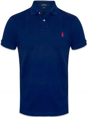 Ralph Lauren Poloshirt small pony, Custom Fit, verschiedene Farben NEW (S,  Navy c561a6210ee3