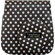 Fujifilm Instax Mini 8-Inch Groovy Case, Black/White Polka Dot