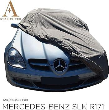 Autoabdeckung Khaki Passend FÜr Mercedes Benz Slk Class R171 Wasserdicht Aussen Vollgarage Im Freien Cover Schutzdecke Auto