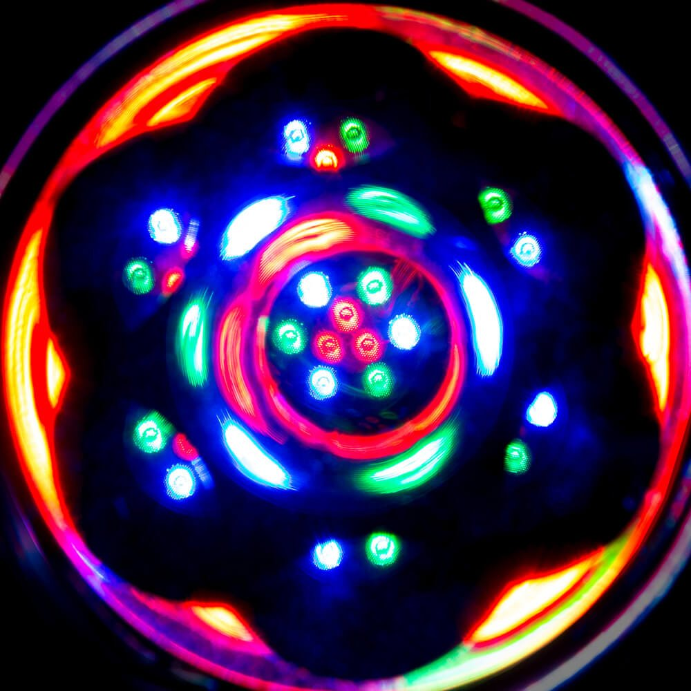 GloFX Black Sacred Kaleidoscope Glasses - Rainbow Sacred Geometry Rave Prism Diffraction Festival by GloFX (Image #5)