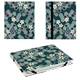 JAVOedge Cherry Blossom Folio Case for Nook Glowlight (2nd GEN) (Ocean Blue)