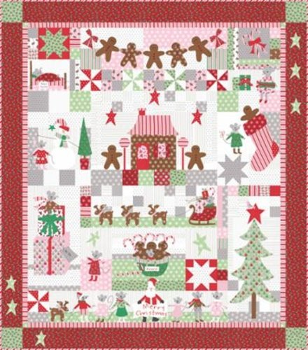 Sugar Plum Christmas Quilt Kit Featuring Sugar Plum Christmas by Bunny Hill Designs for Moda Fabrics