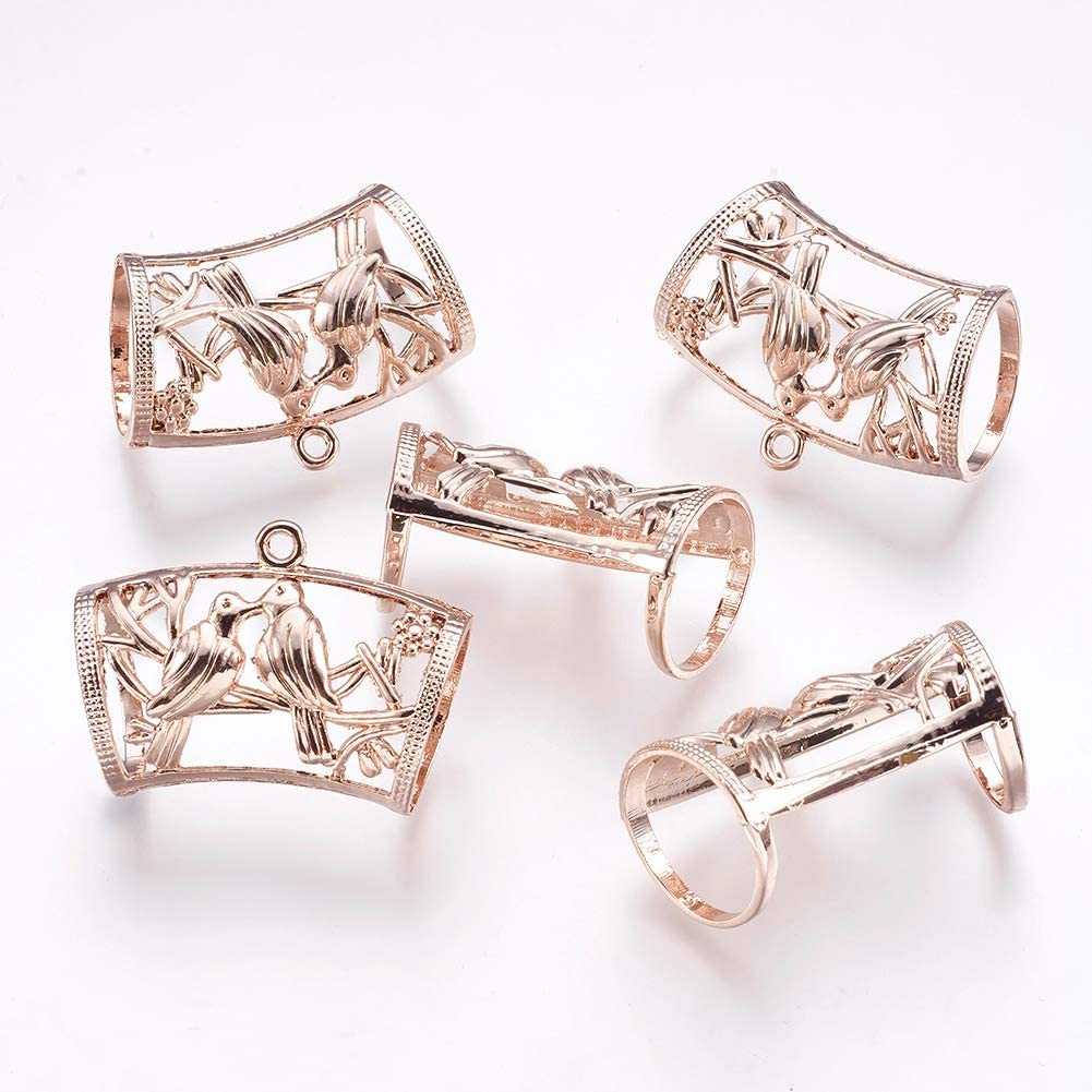 5pcs Butterfly Silver Tone Alloy Rhinestone European Dangle Bead Mixed Color