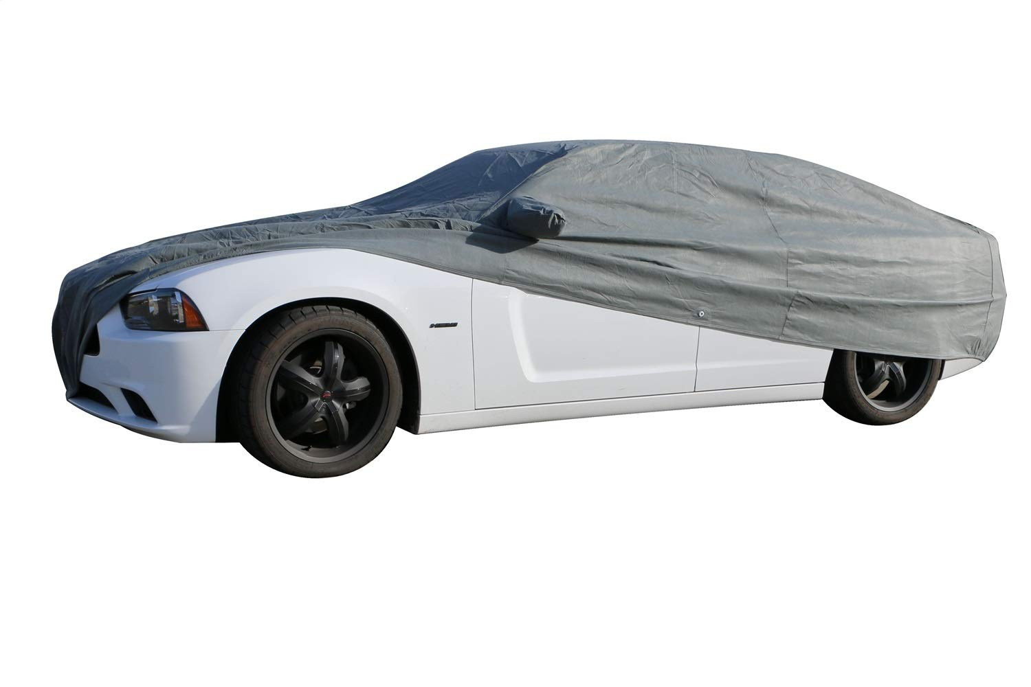 Rampage Products 1505 Grey Custom Vehicle Cover 4-Layer Breathable with Lock Cable /& Storage Bag for 2010-2014 Dodge Charger