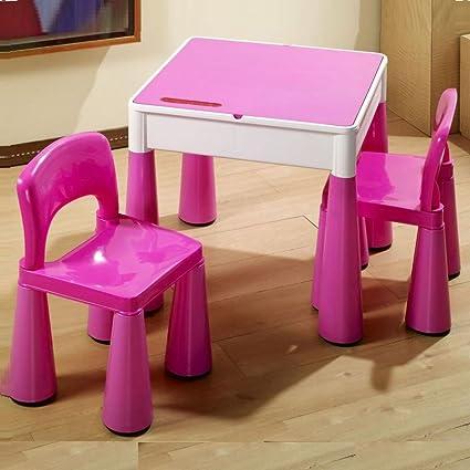 Mesa y dos sillas infantiles para niños Tega baby Mamut color Rosa