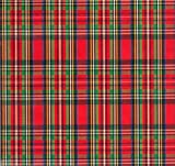 Royal Stewart Tartan Plaid Heavy Embossed Extra Wide Gift Wrapping Paper -30 In x 25 Roll