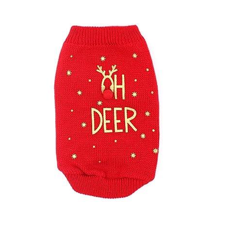 Ofanyia Pet Sweater para otoño e Invierno Disfraz de Perro cálido ...