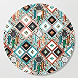 Society6 Wooden Cutting Board, Round, Southwest Quilt by vannina