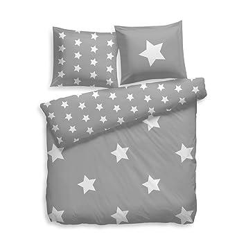 F2f Bettwäsche Flanell Stars Sterne I Größe 155x220 80x80 Cm I Farbe