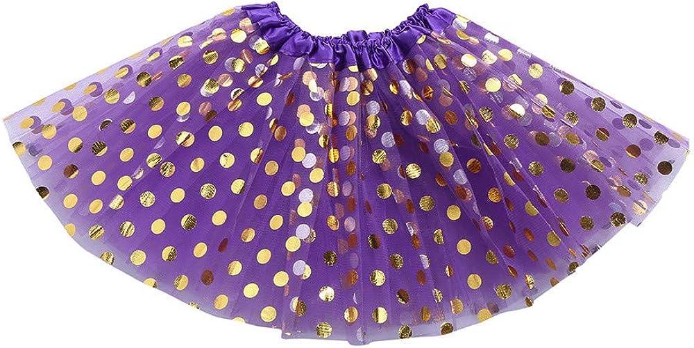 Andouy M/ädchen//Baby Tutu T/üll Dot Funkelnde Pailletten Ballett Rock Prinzessin Ankleiden Tanzen Tragen GR.0 Monate-128 Party
