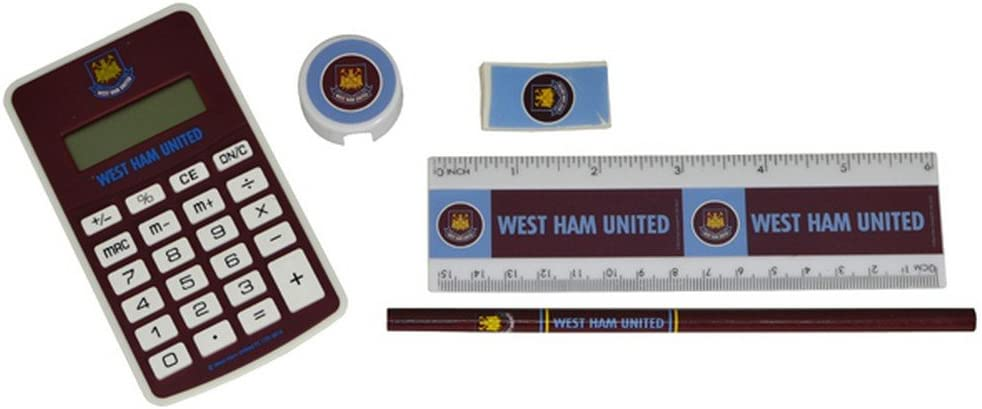 West Ham Big Logo Exam Stationery Set Multi-Colour