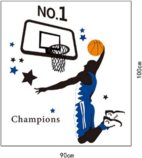 Calcomanías de pared para jugadores de baloncesto Slam Dunk DIY ...
