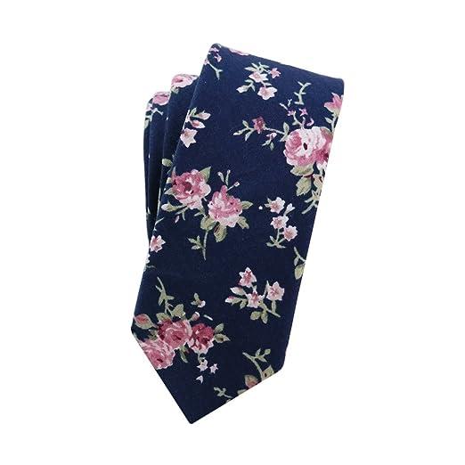 d4c8587ae867 Amazon.com: Mantieqingway Men's Cotton Printed Floral Neck Tie (02 ...