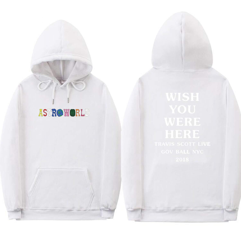 6bd5d74f500b Amazon.com: jackmimi Astroworld Hoodies Letter Print Hoodie Streetwear Man  Woman Pullover Sweatshirt: Clothing