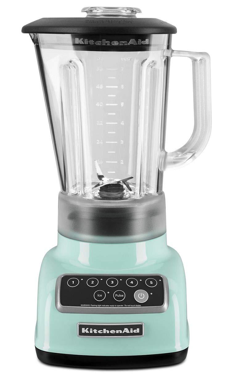 KitchenAid 5-Speed Blender RKSB1570IC, 56-Ounce, Ice Light Blue Color (Renewed)
