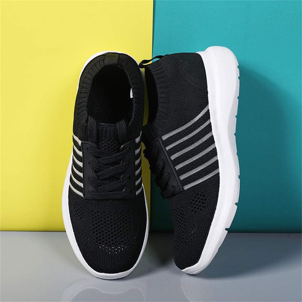 Chaussures de Course Running Femmes Été Dames Mode Poids léger Respirant Baskets Creux Mesh Sneakers Chaussures Outdoors Jogging Formateurs 35-41EU Noir