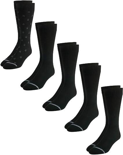 Nautica Mens/' Fashion Dress Socks with Moisture Wicking Technology 10 Pack