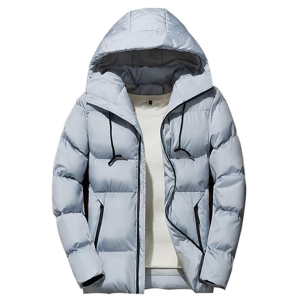 Longra ☂☂ ☂☂❤ ❤ Chaqueta de esquí para Hombres, Chaqueta con Capucha y Cremallera de Invierno Abrigo Outwear: Amazon.es: Ropa y accesorios