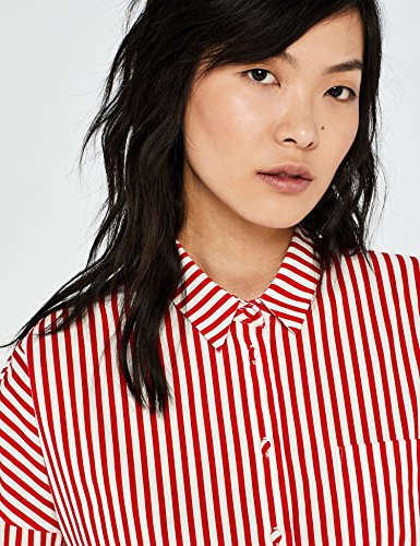 White Coton Chemisier Stripe Ample Femme en Red Blanc FIND tz4Ywqvw