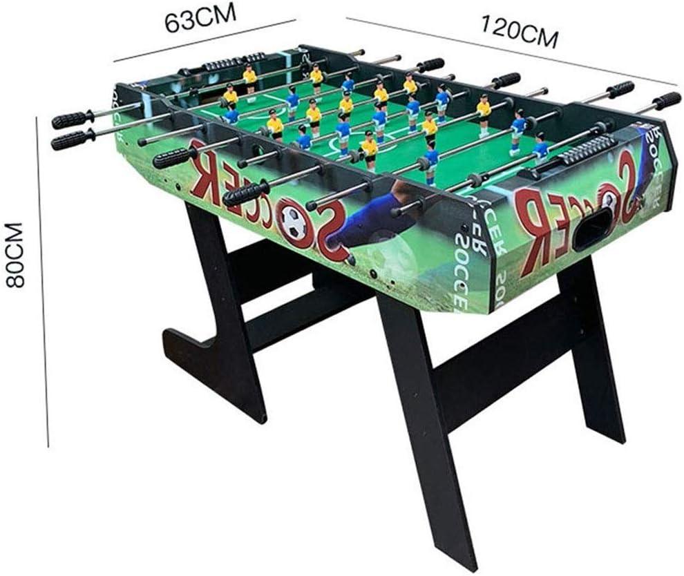 BEANFAN Mesa Plegable Fútbol Fútbol Fútbol Adulto Máquina de Mesa de fútbol Sala de Juegos de Mesa (Tamaño: 120x63x80cm): Amazon.es: Deportes y aire libre