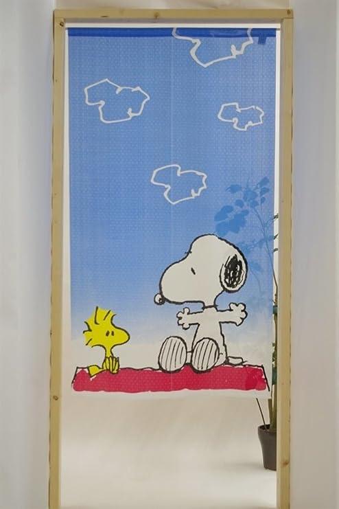 COSMOS Noren (Cortina Japonesa) Cacahuetes Snoopy One Sunny día tamaño 85 x 150 cm