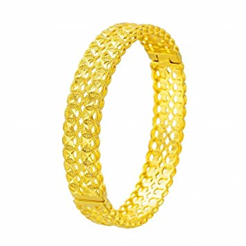 Hox Messing Vergoldet 24k Gold Damen Münze Armband Damen Sand Gold