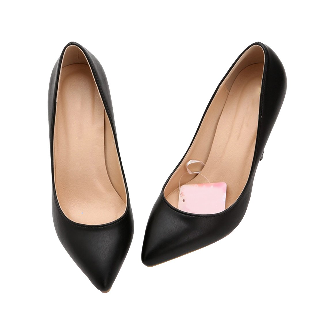 HooH Damen Pointed YW052 Toe Stiloetto Abendschuhe Pumps YW052 Pointed Schwarz e3f657