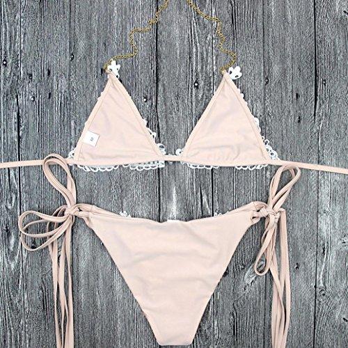Bagno CustomeDa Bikini Sonnena up Push Sexy up Con Imbottito Reggiseno Beige Moda Bassa Beige Vita Dama Reggiseno Push Donna Magro Pezzi L Due SlimFit Stampare 8fzFr8qw