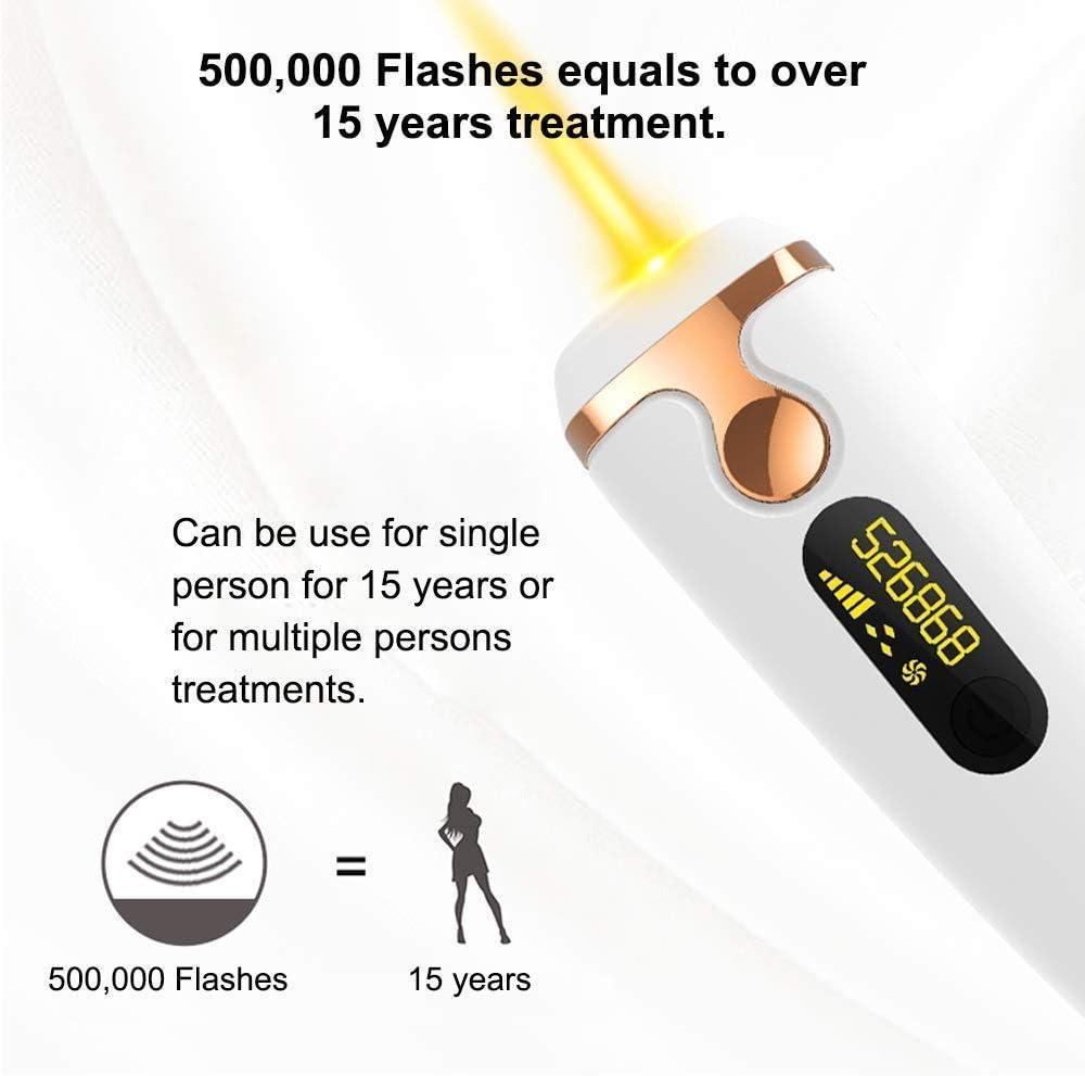 Sistema de depilación IPL para mujeres -500000 flashes -Láser de ...