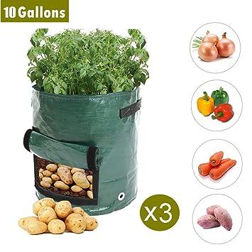 INMOZATA Bolsas de Cultivo de Patatas de 10 galones ...