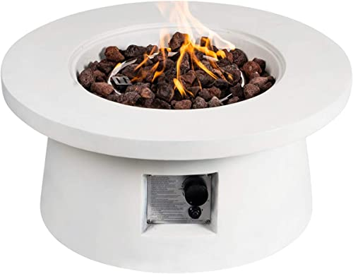 BXYIZU Fire Pits Outdoor Gas Propane Firepit 50,000 BTU Fire Pits Tables Set for Outside Garden Camping, Yard Picnic Bonfire Backyard Balcony Park with Lava Rocks