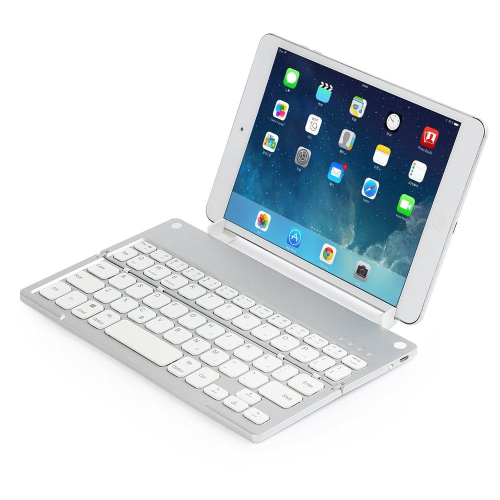 Teclado Inalámbrico bluetooth 3.0 Plegable Uso Universal de Batería Recargable compatible con Tabletas, Sistemas iOS, Android, Windows y Ordenador ...