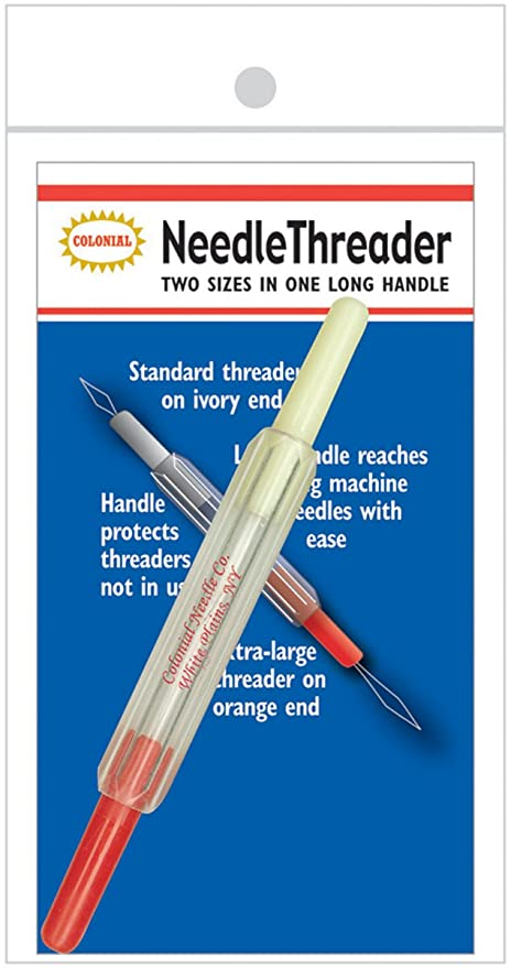 amazon com colonial cnt 1 cottagecutz 2 in 1 needle threader arts