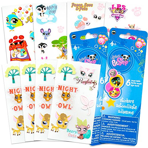Littlest Pet Shop Animal Stickers Kids Toddlers ~ Over 140 Pet Stickers (Party Supplies Pack) ()