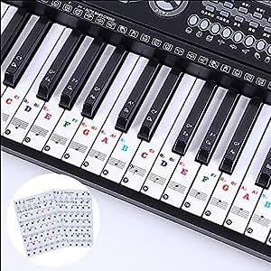 LABOTA 2 Pack piano pegatinas para 88/61/54/49/37 Key Keyboard ...